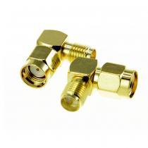 RP SMA Plug to RP SMA Jack Right Angle Adapter